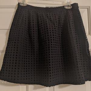 Banana Republic A-line eyelit skirt
